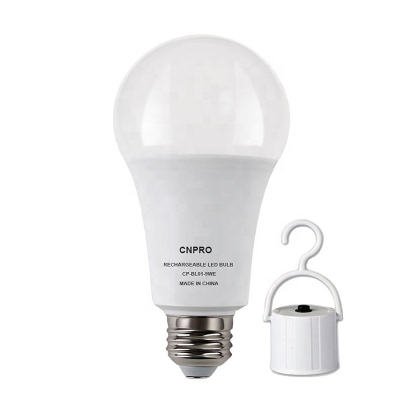 China manufacture 9w energy saving emergency led bulb light with battery