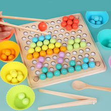 Early Educational Toy Hands Brain Training Clip Beads Puzzle Board Math Game Baby Montessori Wooden Toys