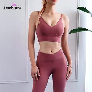 Hot sexy Ladies Sports bra high impact women workout comfortable strappy custom yoga gym sports bra top