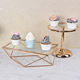 Metal Metal Cupcake Stand Wedding Decoration Dessert Bread Tray Clear Glass Metal Gold Cake Cupcake Stand