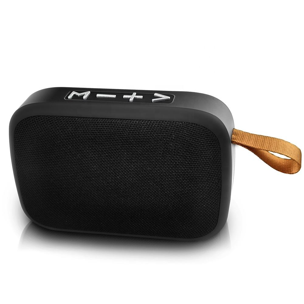 Best Promotional Gift Fabric Portable Wireless Speaker Mini Bluetooths Speaker with FM/USB/TF