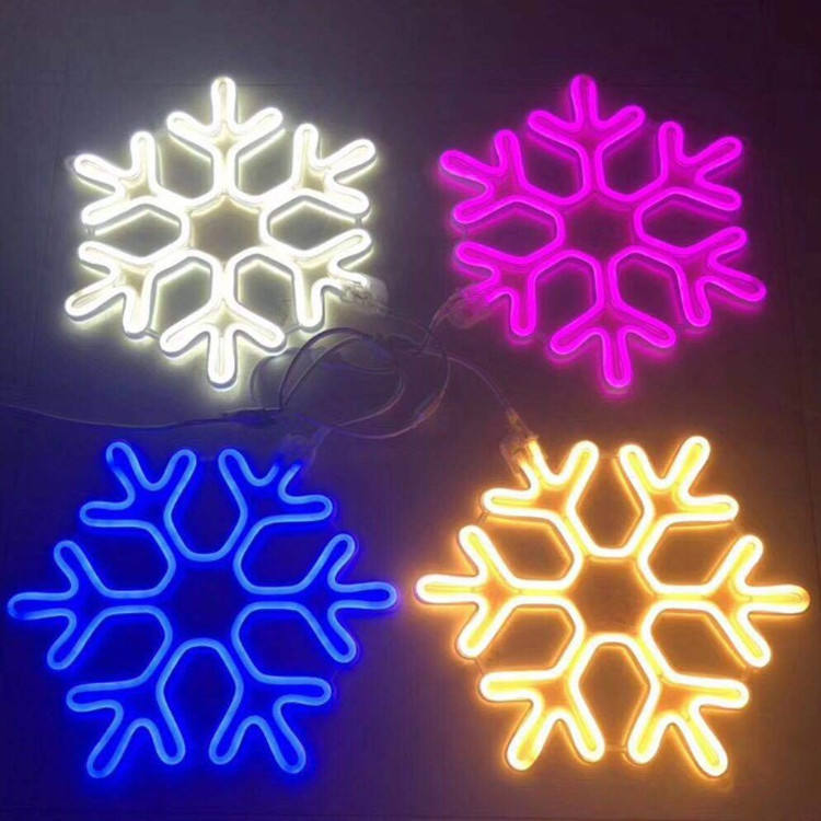 Snowflake Christmas Tree Decoration 12/24/120/240V Neon Rope Lights Led Christmas Neon Light