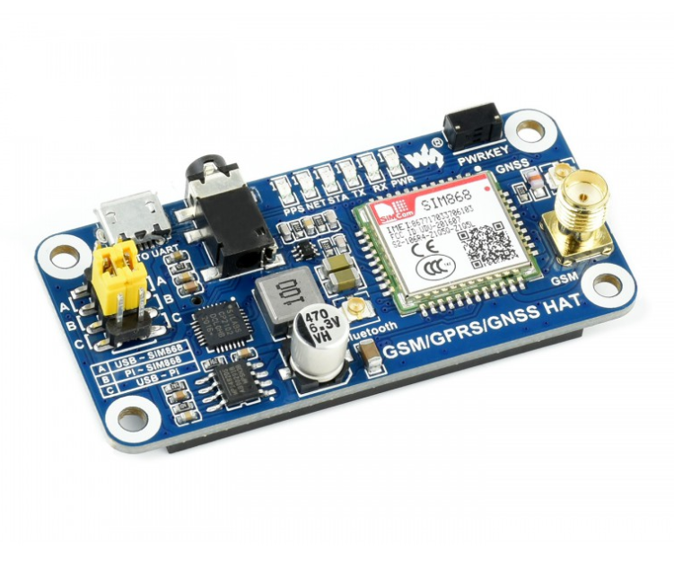 Gsm/Gprs/Gnss/Bluetooth Hoed Voor Raspberry Pi