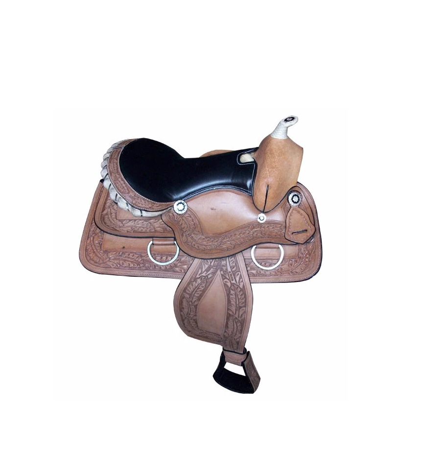 มือ Tooled Western Saddle