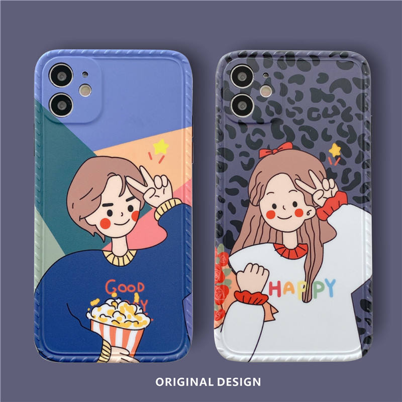 For Iphone Case 12 Mini Apple 11 Pro Max 8 7 Plus XR XS X SE Lovers Couple Men and Women Phone Casing