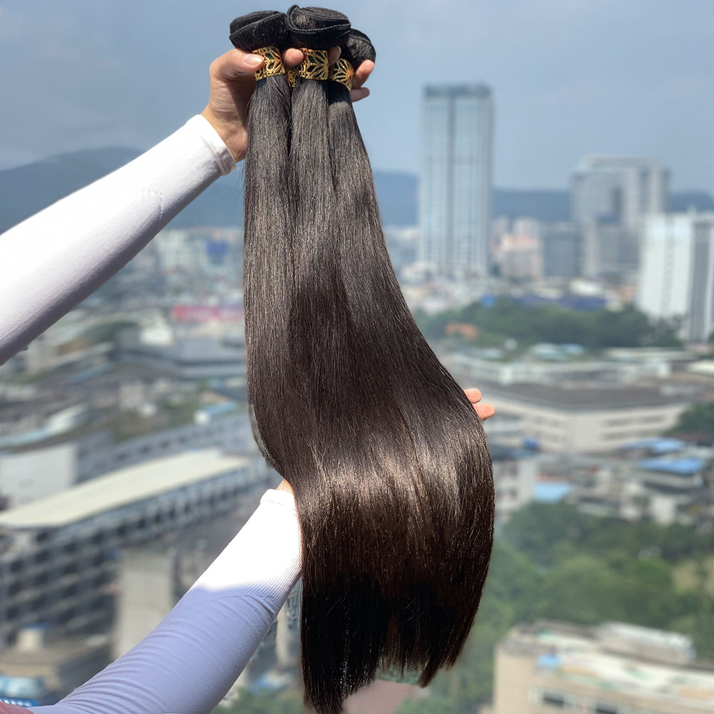 XBL factory long length virgin human hair, raw virgin cuticle aligned hair guangzhou xibolai, 10A mink Brazilian hair bundles