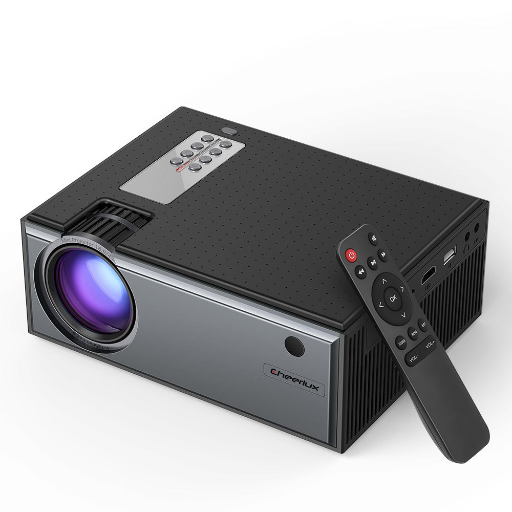 Portable CHEERLUX C8 HD Projector Home Theater LCD LED support 1080P Projector mini projector