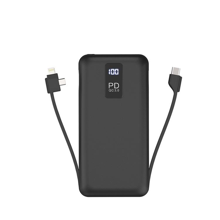 PD Fast Charging Portable Mobile Chargers 20000mah Power Bank With Led Digital Display