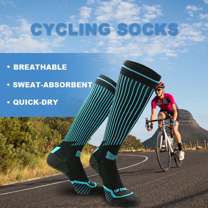 2 Pairs Specialized Cycling Compression Crew Socks Small//Medium Black Gray Logo