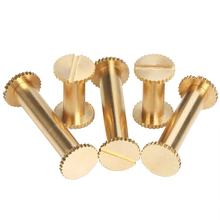 M4 Brass Slotted Knurled Binding Chicago Screw Posts for Photo Albums Scrapbook
