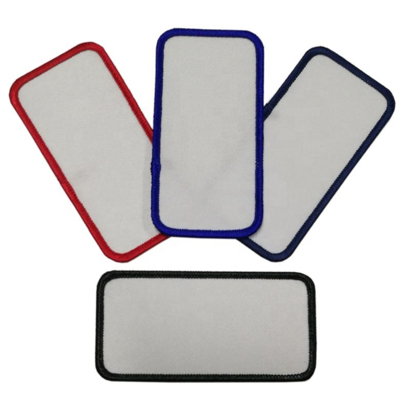 Blank Sublimation Heat Transfer Patch, Promotional Embroidery Blank Iron On Patch