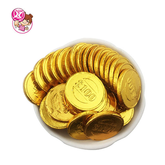 Factory Supply Halal Milk Chocolate Gold Coins