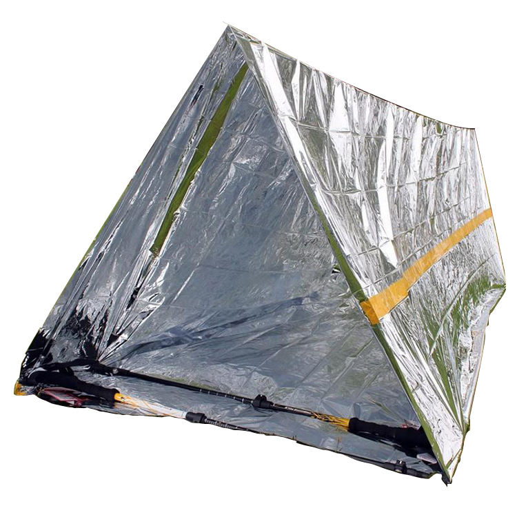 Survival 2 person Mylar Thermal Outdoor Tube Pet Camping Emergency Shelter Tent