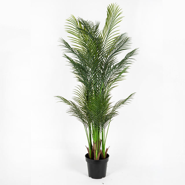 Factory supply plastic royal palm tree indoor artificial plant for decoration