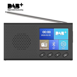 Portable dab+ radio digital fm radio 3W Bluetooth speaker LCD Color Screen pocket DAB radio with Clear Picture photo Stereo AUX
