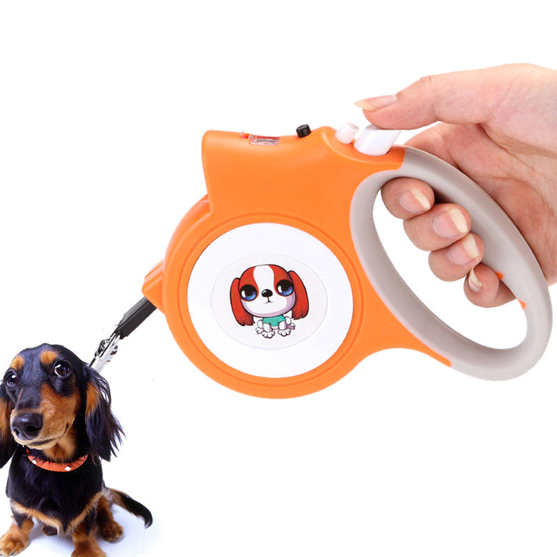 One-Stop Service [ Dog Led ] Retractable Dog Leash With LED Light Perfect For Night Walks Pet Leash Anti-Slip Soft Handle