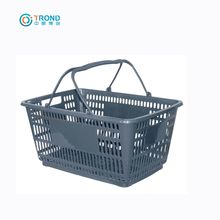 Widely Used Wholesale Eco Friendly Portable Supermarket Plastic Shopping Basket