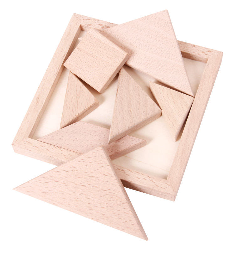 High Quality Wooden 7 Pieces Tangram Puzzle Educational Toy for Children