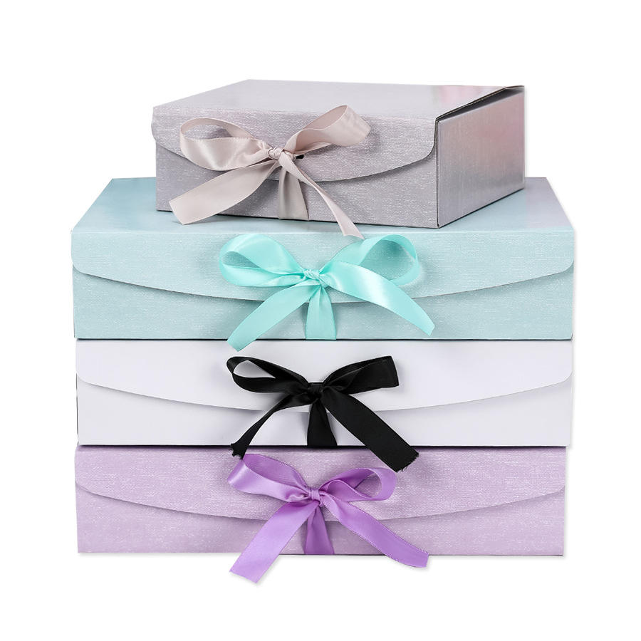 RANO Bonbons/Chocolat/Biscuit Emballage Pliable Bleu/Gris/<span class=keywords><strong>Violet</strong></span>/Blanc Boîte-Cadeau