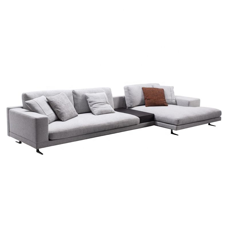 L Shape Sofa Sectional Italy Style White Living Room Furniture Sofas Set Big Couch