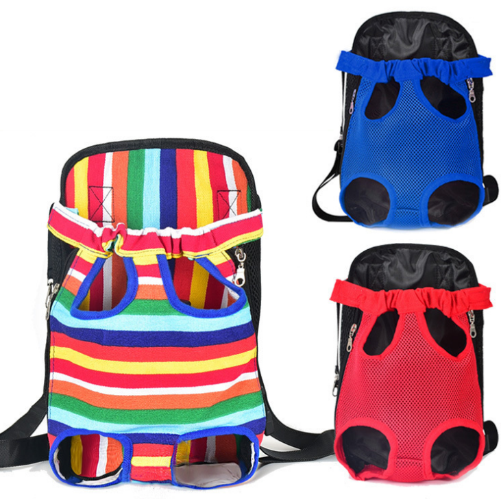 Pet Dogs Cats Outdoor Carrier Backpack Canvas Legs Out Front Bag pet bag