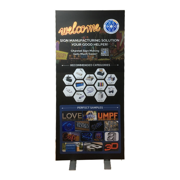 high quality square portable seg outdoor mini scrolling sign lightbox