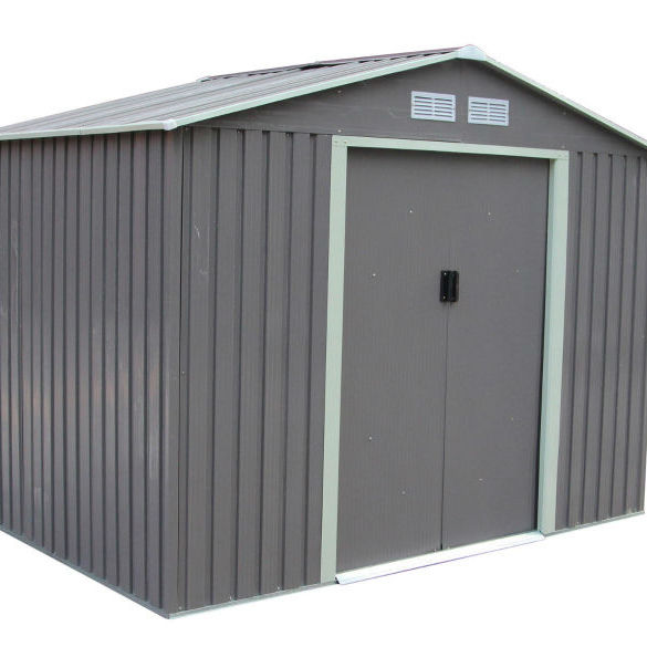 10x12ft metal shed with deep roll-formed wall panels