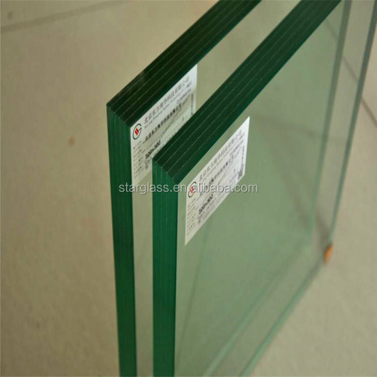 16mm white tempered laminated glass for window