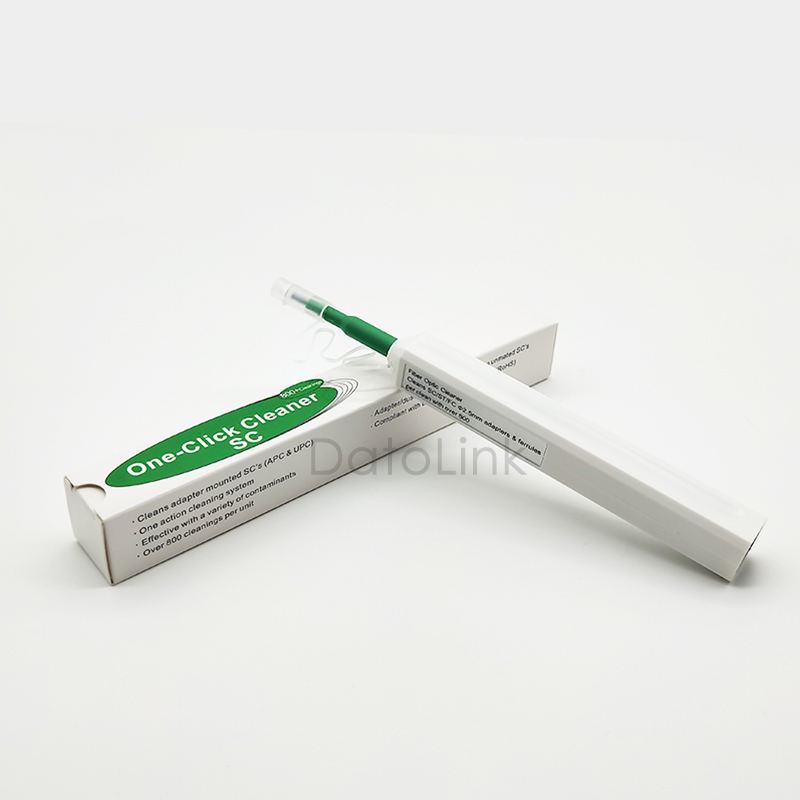 Promotion LC/SC/FC/ST One-Click Cleaner Tool 1.25mm and 2.5mm Fiber Optic Cleaning Pen 800 Cleans Fiber Optic Cleaner