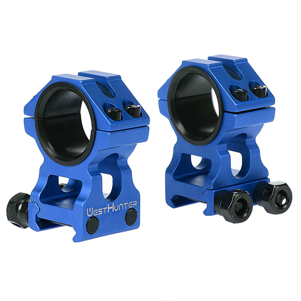 Blue High Profile Picatinny Scope Rings 25.4mm/30mm Dual Rings Fully CNC Process Weaver Rail Mounts Hunting Optical Accessories