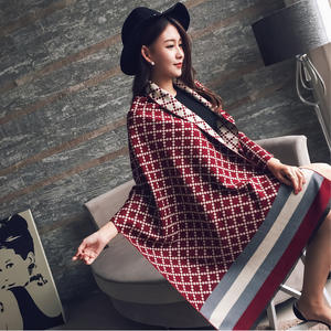 N818 New Design Checked Oversize Blanket Thicken Plaid Scarves Autumn Winter Warm Tassel Long Shawls Cashmere Scarf