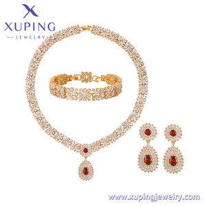 set-462 Xuping new multicolor zircon luxury ladies jewelry set african bridal wedding jewelry sets