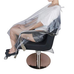 cheaper hairdressing PE cutting disposable hair barber salon cape