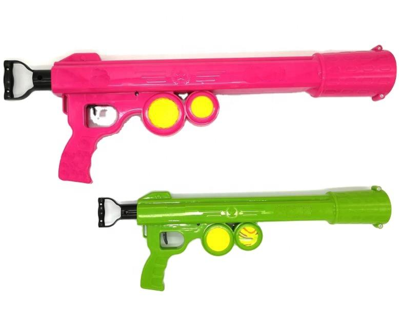 Colorful New Design Automatic Training Machine Pet Dog Tennis Ball Thrower Launcher Gun