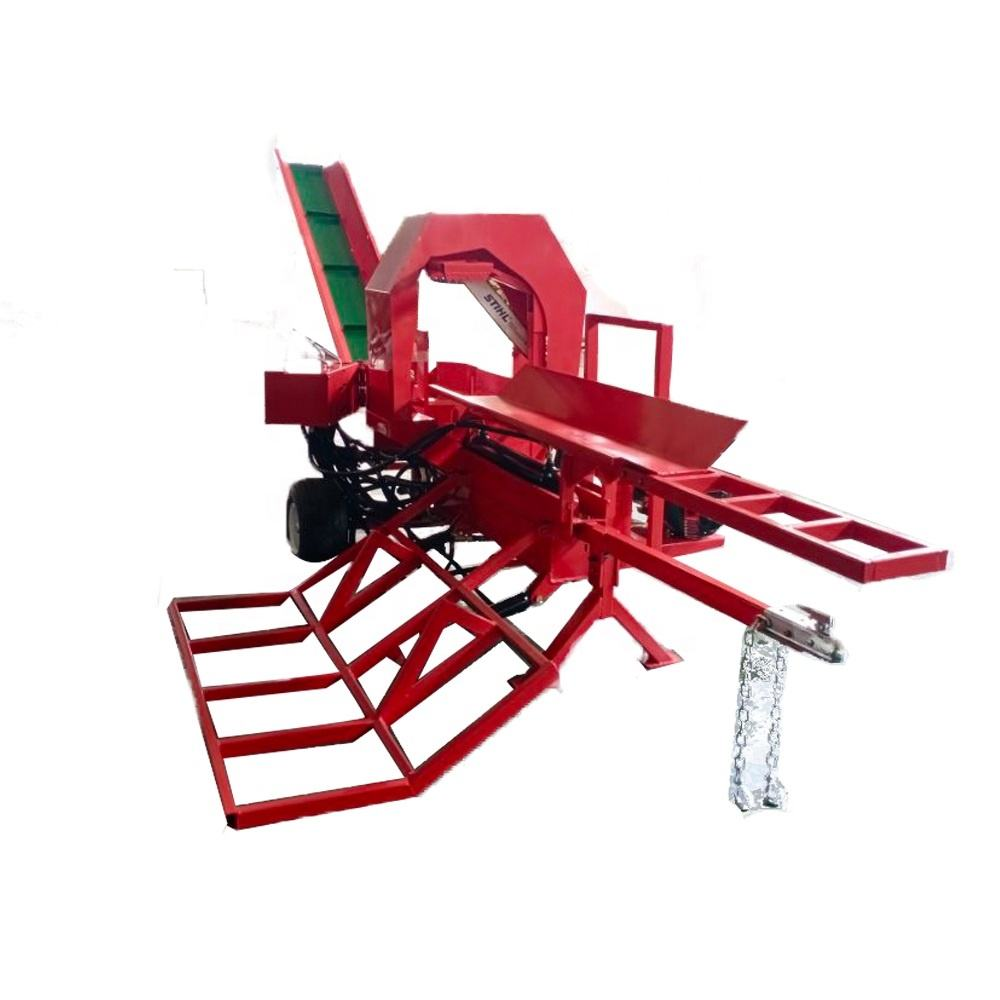 New-year sale Firewood Processor Hydraulic Log Splitter with log lifter