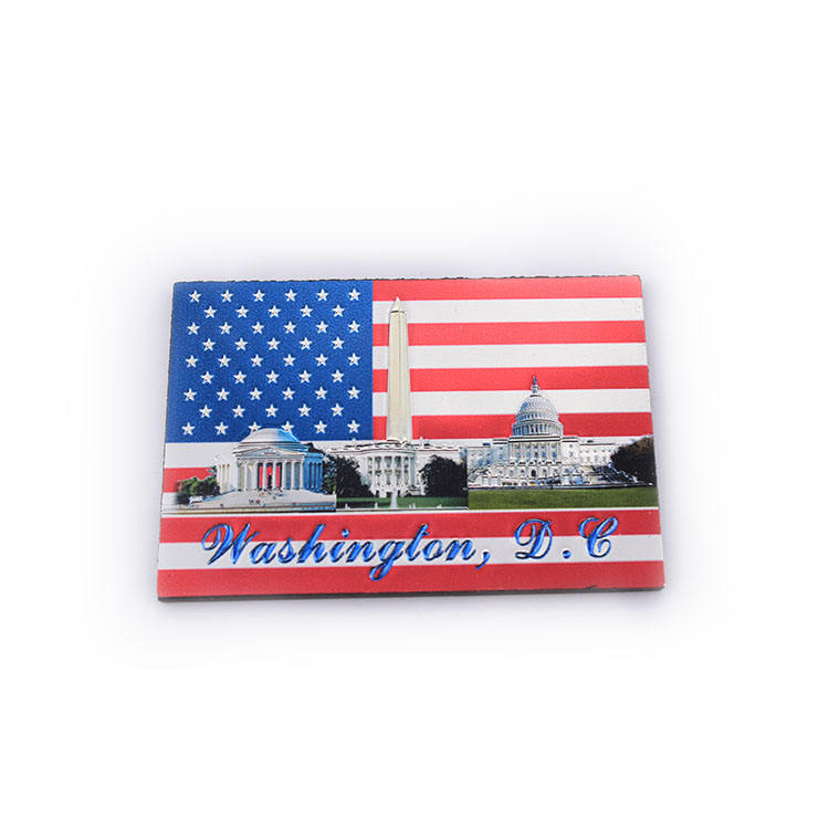 Custom usa design souvenir rubber soft fridge magnet pvc refrigerator all country tourist square strong neodyneum fridge magnets