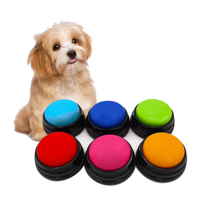 Recordable answer buzzers for dog animal buzzer training dog button
