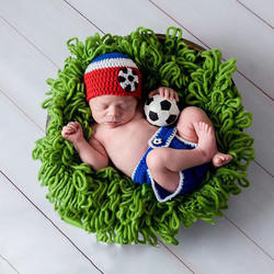 Knitted newborn photography Props crochet baby hat winter ha