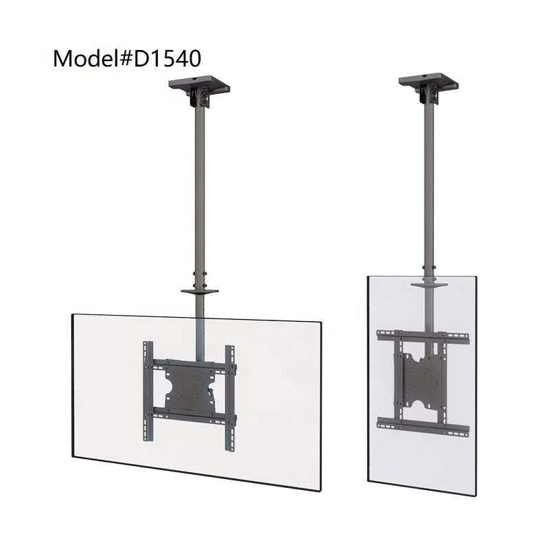 Economico VESA 400x400mm Soffitto Mount TV Staffa Telescopica Con Pali