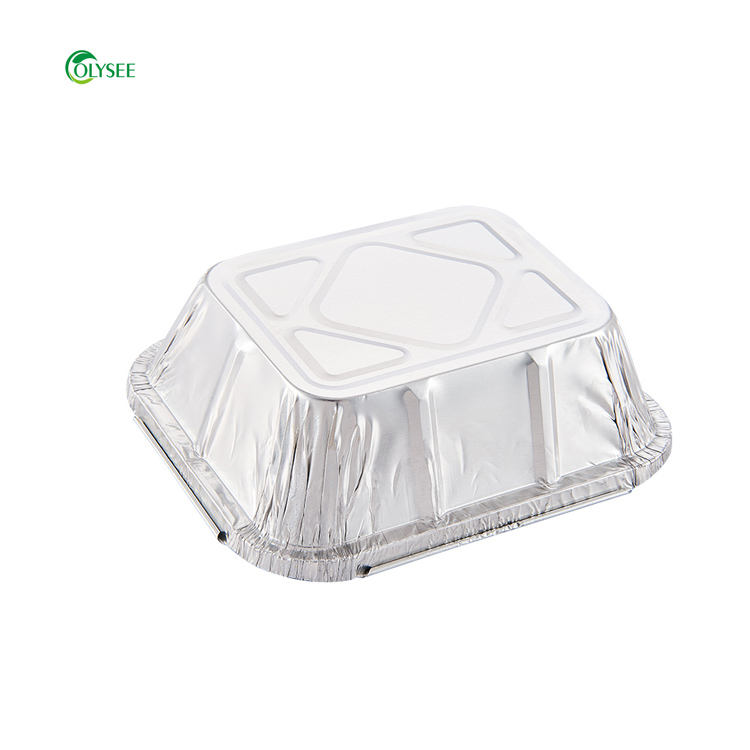 Hard Disposable Aluminium Foil Container Disposable Takeaway Takeout Various Food Packaging Aluminum Foil Bento Box With Lid/ 1 Time Use Al Foil Container