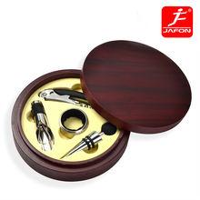Exquisite accessories wooden box 4 piece wine opener gift set