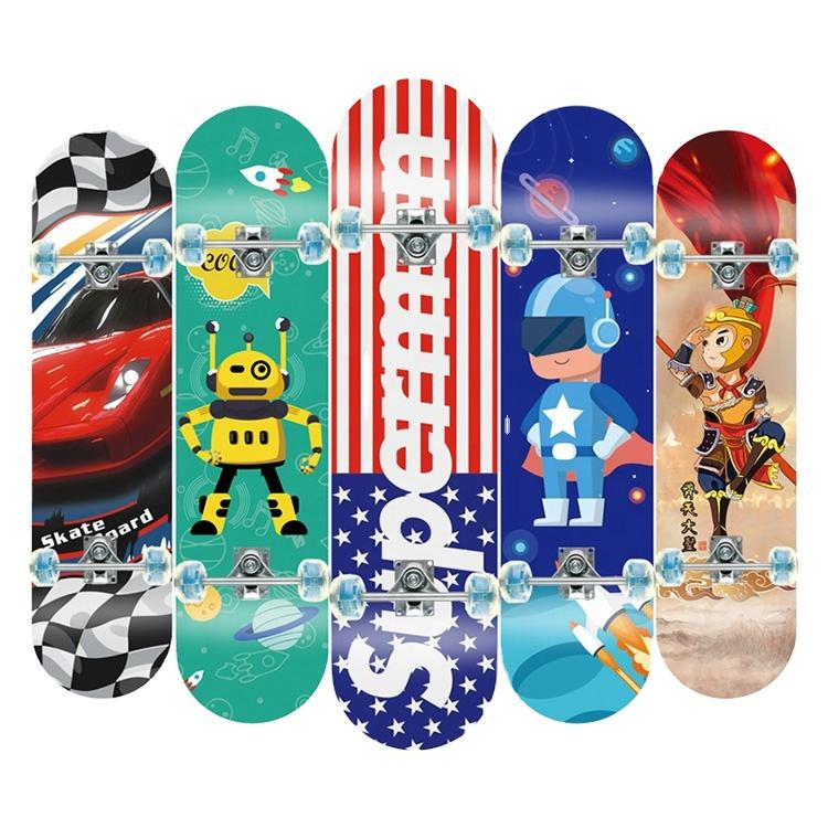 4 Wheel Flash Skateboard for Young People Aluminium Frame