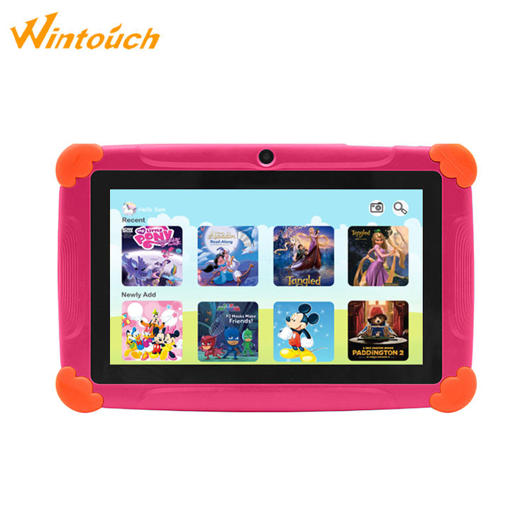 Best Smart Pad Android Cats Design Silicone Case 7 inch Quad Core Kids Educational Tablet Pad
