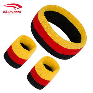 sport sweatband factory cheap custom unisex breathable cotton elastic wristband for gym