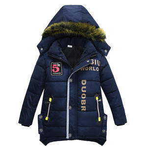 New Kids Clothing Boy Hooded Fancy Padded Thick Kid Fashionable Warm Children Boys Winter Jacket