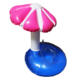 PVC Inflatable floating umbrella beer can drink holder