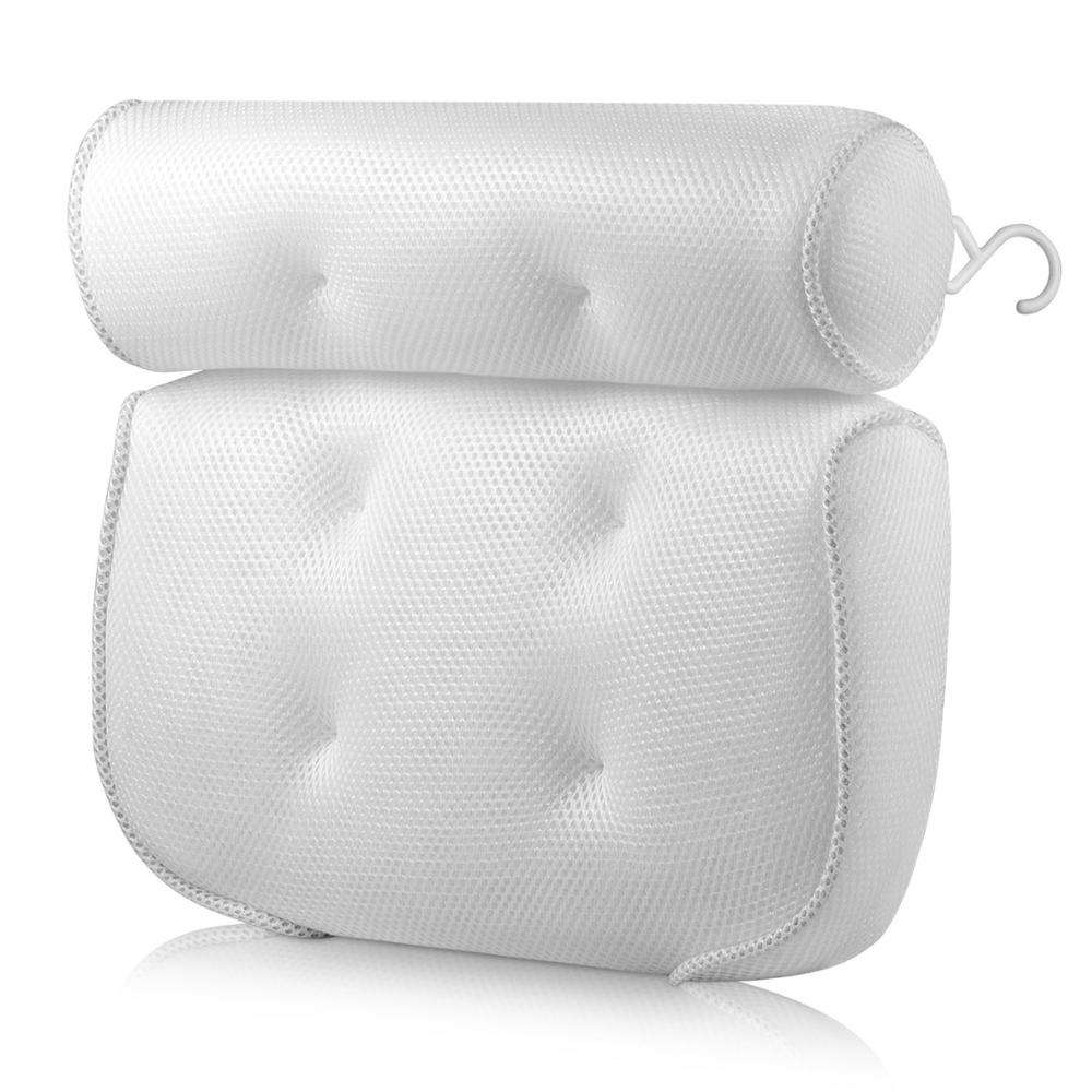 3D PU spa soft bath pillow inflatable bath pillow