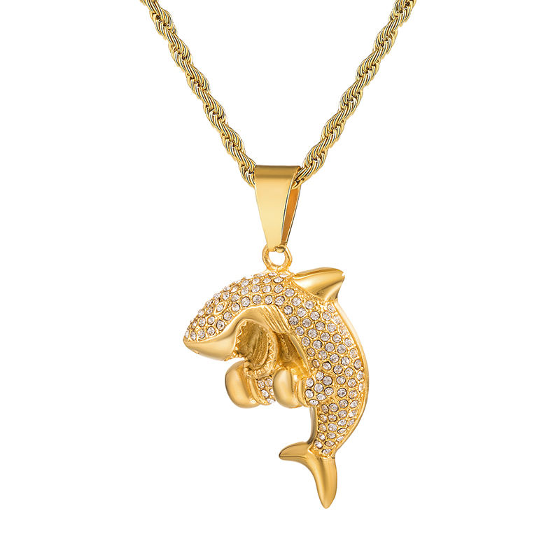 Iced out Shark pendente Per gli uomini di hip hop dei monili Animali