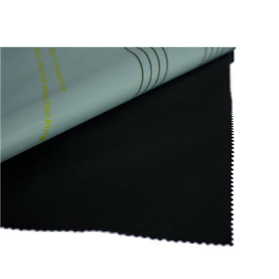 Hot selling flame retardant knitted blank sublimation 100% polyester black back display fabric