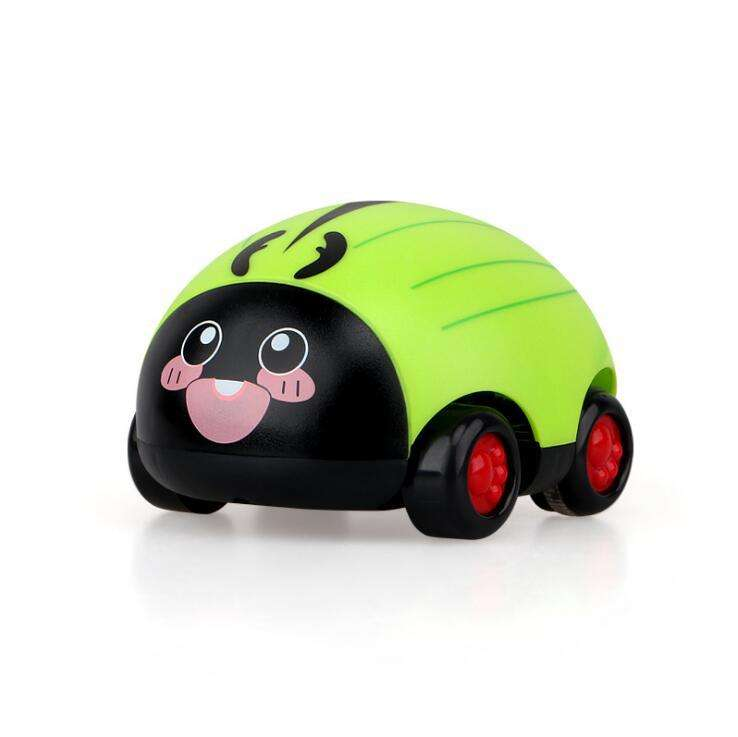 Two-way Q Version Cartoon Mini CarInertial Force Child Toy Insect Cart Inertial Pull Back Car